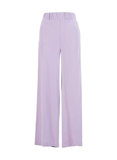 Setre Lila Tencel Yüksek Bel Rahat Kesim Pantolon Lila